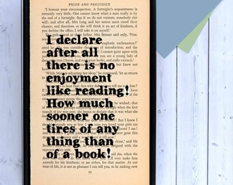 Pride and Prejudice - I Declare After All Quote - Jane Austen Quote - Book Lovers Gift - Wall Art - Framed Quotes - Book Quotes - Book Art