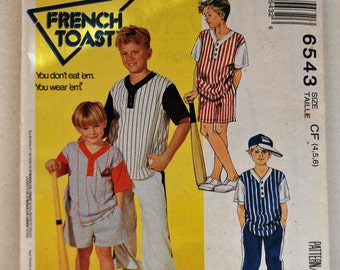 McCall's Pattern 6543 - Boys' Top, Pants, and Shorts, Size  (4, 5, 6) - For Stretch Knits Only