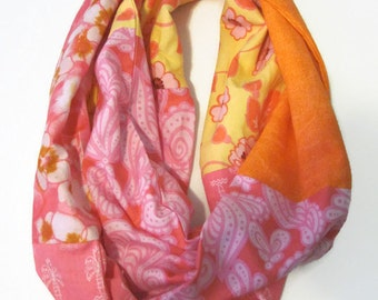 Infinity Scarf Loop Scarf Multi Fabric Scarf