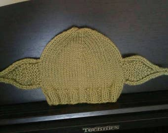 Yoda Knit Baby Hat Yoda Costume Baby Photo Prop Star Wars Infant Hat
