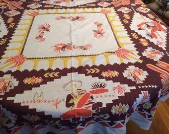 Vintage Southwest Theme Tablecloth