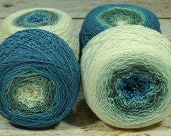 "Full "" Sea Serpent "" -Lleap Handpainted Gradient Sock Yarn"