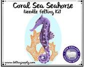 Coral Sea Seahorse Needle Felting Kit