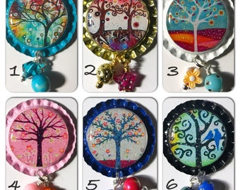 TOP Only**Tree of Life Interchangeable Badge Reel Tops  *PICK ONE*
