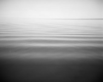 Great Lake Photo, black white landscape, ocean photograph, nature home decor, holga, zen dreamy, lake ontario minimalist bedroom office art