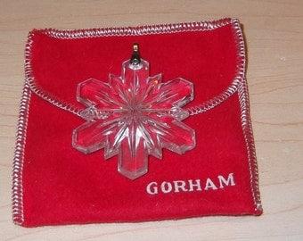 1977 Gorham Full Lead Crystal Christmas  Snowflake With box
