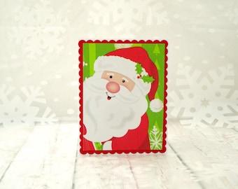 Holly Jolly Santa Claus Christmas Card, Santa Claus Chirstmas Card, Holly Jolly Christmas Card