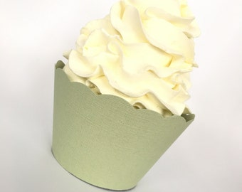 Sage Green Cupcake Wrappers , Pear Green, Weddings, Showers