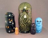 Cthulhu Mythos  Nesting Dolls Matryoshka Lovecraft Horror Figures Set of 5
