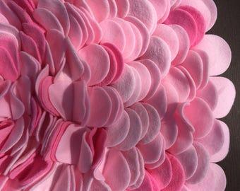 All Pinks Fleece Round Little Rug