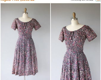 25% OFF FLASH SALE.. 1950s Party Dress | 50s Dress | 50s Party Dress | 1950s Printed Dress | Purple and Pink 1950s Dress