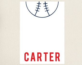 Baseball Note Cards