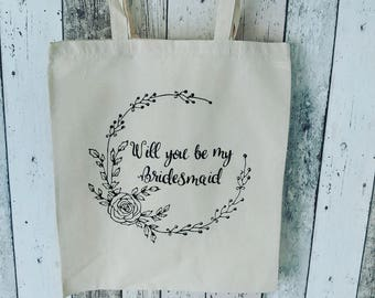 Will you be my bridesmaid tote