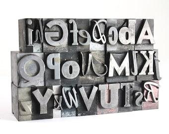 THE ALPHABET - 48pt Metal Letterpress - Mixed Set C