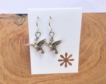 Sterling Humming bird earrings