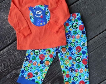 Monster 1st Birthday Outfit - RTS Size 12-18 months Boy
