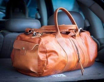 Mens duffel bag, travel bag mens gym bag duffle bag mens carry on bag weekender bag crossbody bag - Nestor duffel bag
