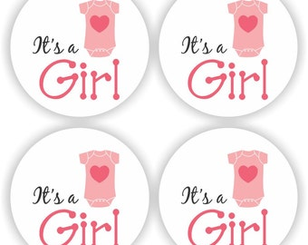 Baby Shower Stickers - It is a Girl Stickers - Baby Shower Candy Stickers - Footprint Candy Stickers - Set of 324 Stickers