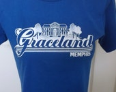 Vintage Graceland Tee Shirt..Memphis T-Shirt..1970's Tee Shirt..Souvenir T-Shirt..Advertising T-Shirt..Small