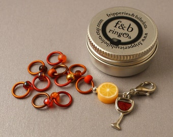ringOs Mulled Wine - Snag-Free Ring Stitch Markers for Knitting