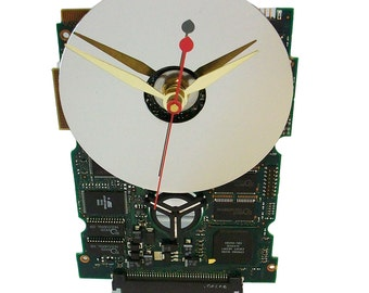 The Mercedes of Circuit Board Clocks, Modernistic, Retro, Preppie Look. Got Office Gift, Gift for Him?
