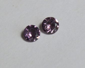 Pink Spinel, Spinel Pair, Spinel Rounds, 5mm Spinel for Earrings, Pink Spinel from Tunduru, Tanzanian Spinel