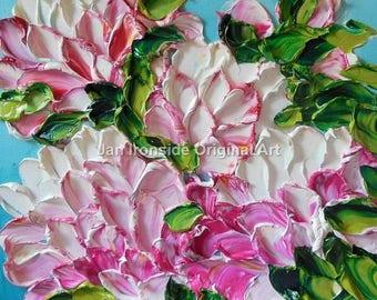 Peony Painting , Home Decor , Jan Ironside ,  Wall decor ,  Original Art ,Spring Decor,