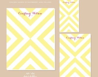 Personalized Notepad - Chevron X