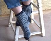SALE 25% off gray socks hand knit tweed warm socks Christmas winter holidays gift under 35 girls socks