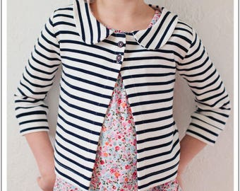 PDF Sewing Pattern - Aster Cardigan  - sizes 18 months through 12 years - INSTANT DOWNLOAD