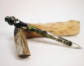 Reserved Acrylic Turned Hair Stick - Duck Weed Mist - No 186