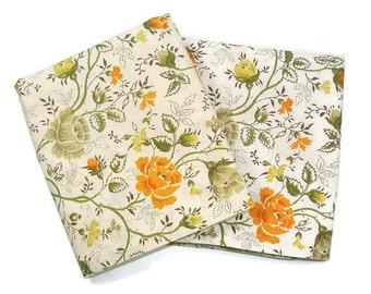 Vintage Floral Pillow Cases one pair