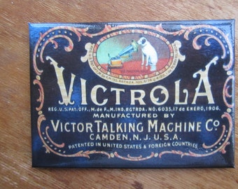 "Victrola Talking Machine Refrigerator Magnet 2.5""x 3.5"" Nipper The RCA Dog"
