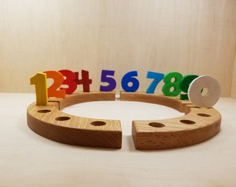 Birthday Ring Numbers, 0-9, Wooden Numbers, Birthday Ring Numbers, Waldorf Birthday Ring, Birthday Ring Ornament
