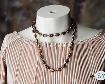 Braided Baroque Pearl Necklace