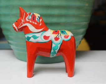 Dala Horse Red 4 inch Swedish Olssen Sweden Akta VINTAGE by Plantdreaming