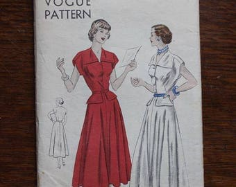 Vogue Sewing Pattern 6388 Size 18 Bust 36 Original One Piece Dress VINTAGE by Plantdreaming