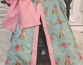 car seat cover / car seat cover / nursing cover / carseat canopy / carseat cover  / jumbo bow included