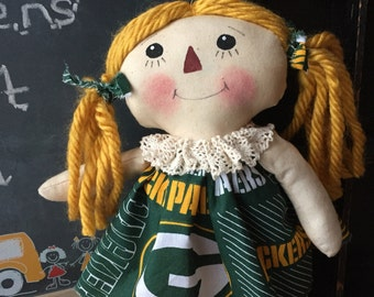 Primitive Raggedy Annie | greenbay packer | dress