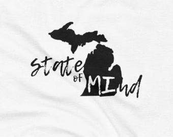 Mi state of mind etsy michigan state of mind tank womens tank top sleeveless fitted womens michigan publicscrutiny Image collections