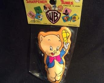 Porky Pig Looney Tunes Pencil Sharpener MIP - 1970s
