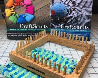 Sale! CraftSanity 13-Peg Loom & TWO print issues of CraftSanity Magazine