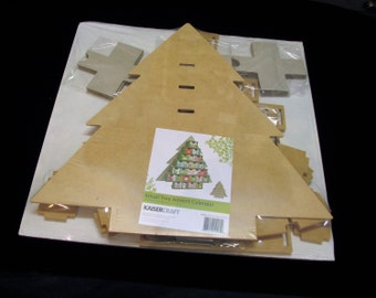 Kaisercraft SB2205 Small Tree Advent Calendar, Beyond The Page sb2205, Wood Christmas Tree Advent Calendar, 25 Drawer Tree, Christmas Advent