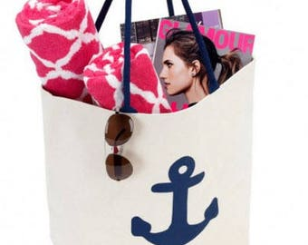 Anchor Canvas Tote Bag- Summer's Essential Bag