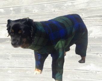 Fleece Dog Pajamas, custom made for your dog