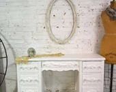 Painted Cottage Chic Shabby French Desk DK293