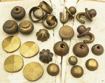 Lot 25 Vintage Brass Hardware Altered Art Steampunk Assemblage Supply