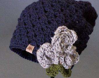 """Crochet Slouchy Hat Pattern """"Chloe Slouchy"""" Crochet Slouchy Hat Pattern Sizes Newborn to Adult"""