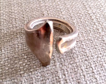 Silverplate fork edge ring