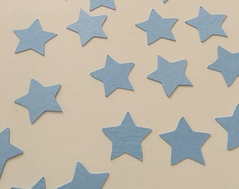 Blue Star Stars Confetti - Twinkle Twinkle Little Star Baby Shower Theme - Star Die Cut 1 inch - 100 count